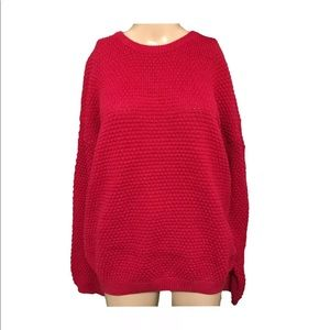 Essential Elements Waffle Knit Sweater XL